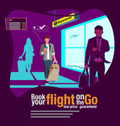 booking ticket on go vector image