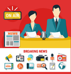 Breaking news design concept vector