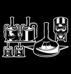 brewing machines monochrome vector image