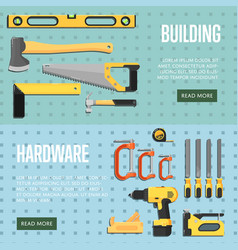 Building tools website templates for store vector