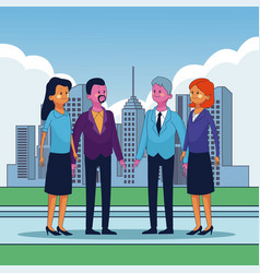 business executive people vector image