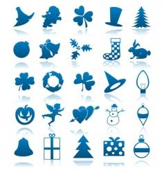 Celebratory icons vector