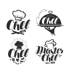 Chef cook logo or label for design vector