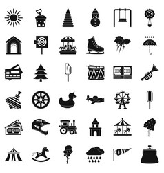 Children trumpet icons set simple style vector