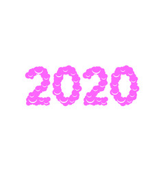 christmas 2020 sweet numbers vector image