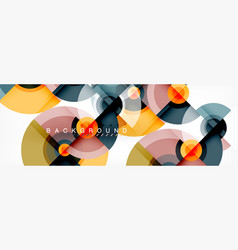 circle geometric composition abstract background vector image