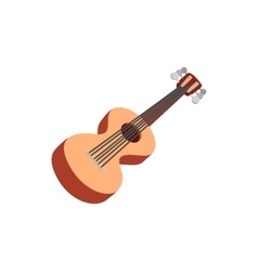Classic guitar icon cartoon style vector