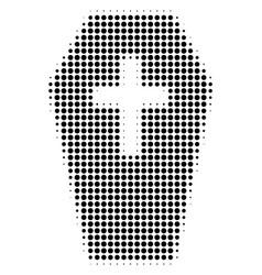 coffin halftone icon vector image