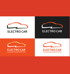 colorful logo of electro car vector image