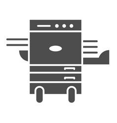 Copier printer solid icon multifunction laser vector