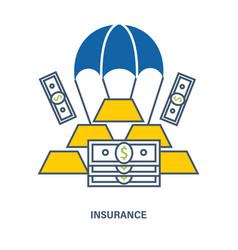 deposit insurance flat vector image