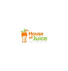 drinking house juice logo design vector image