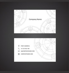 engineering business card engineering drawings vector image