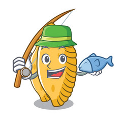 Fishing pastel mascot cartoon style vector