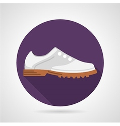 Flat icon for sports shoes vector