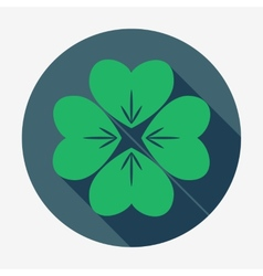 Four-leaf clover St Patricks Day symbol Easy vector image