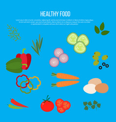 fresh vegetables heathy foods vector image