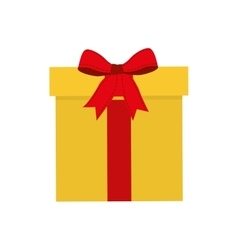 Gift bowtie present icon vector