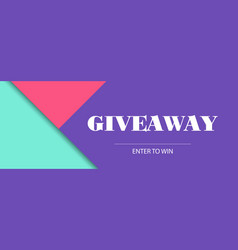Giveaway banner template facebook cover size vector