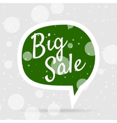 Green Christmas Bubble with white Big Sale Text vector image