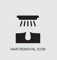 Hair removal icon vector