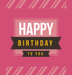 Happy birthday card style collection vector