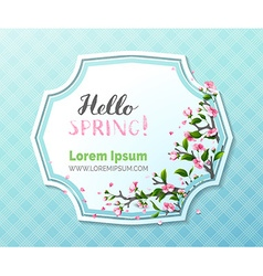 Hello spring template vector