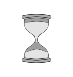 Hourglass icon black monochrome style vector image
