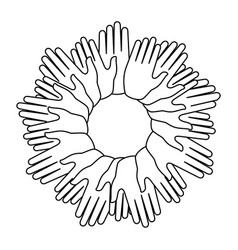 Human hands symbol vector
