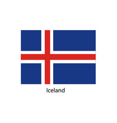 iceland flag official colors and proportion vector image