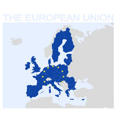icon with map of the european union vector image