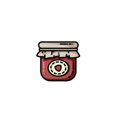 jam jar flat icon vector image
