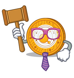 Judge bitconnect coin character cartoon vector