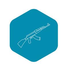 Kalashnikov ak 47 machine icon outline style vector