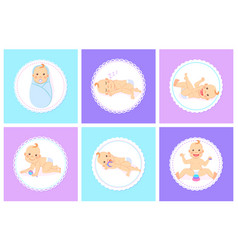 kid playing or sleeping bain diaper vector image