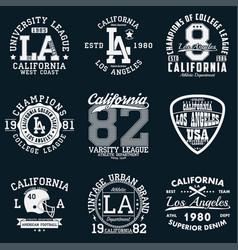 la sport t-shirt set vector image
