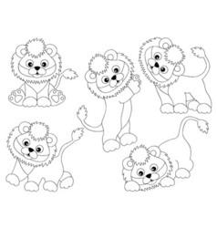 Lions Set vector image
