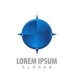 logo concept design blue target symbol graphic vector image