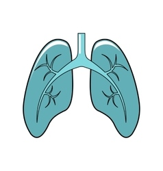 Lungs cartoon icon isolated on white background vector image