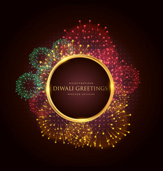 luxury diwali greeting festival banner poster vector image