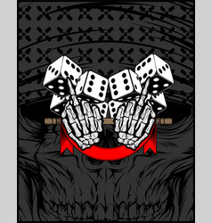 Middle finger you symbol with dice vector