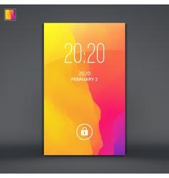 Modern Lock Screen for Mobile Apps vector