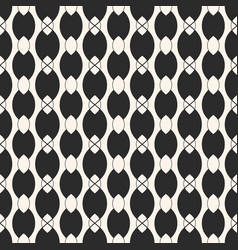 monochrome seamless pattern with ovate shapes vector image