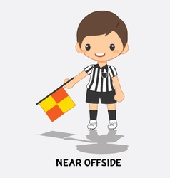 near offside flag signals vector image