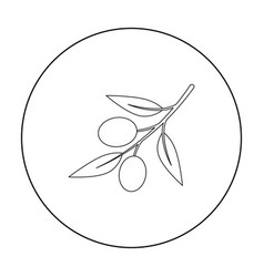 olive icon outline singe vegetables icon from the vector image