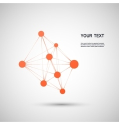 orange abstract molecule on a white background vector image