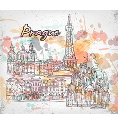 Prague doodles vector
