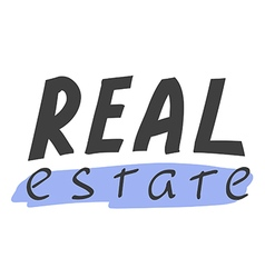 Real estate hand lettering vector