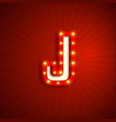Retro style letter j vector