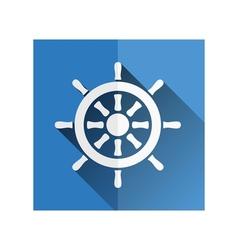 Rudder icon vector